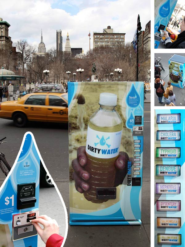 33 cool and creative ambient ads bored panda unicef dirty water vending machine solutioingenieria Choice Image