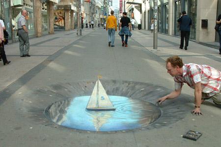 44 Amazing Julian Beever's 3D Pavement Drawings | Bored Panda: www.boredpanda.com/44-amazing-3d-sidewalk-chalk-artworks-by-julian...