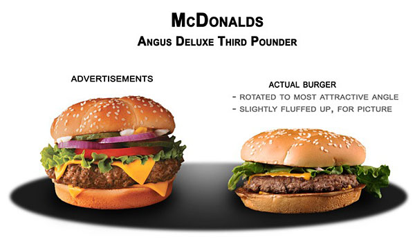Fast food fails ads vs reality bored panda - Fast good cuisine big mac ...