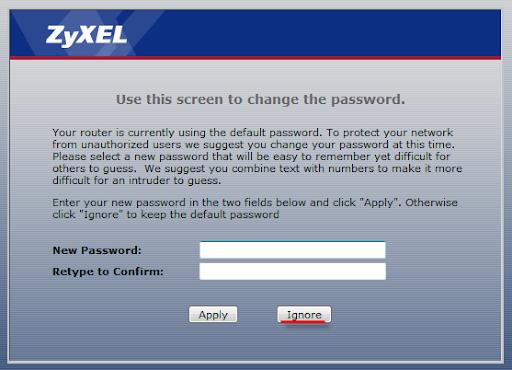 Настройка интернет ростелеком на модеме zyxel
