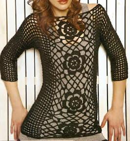 Materiales: Luxbril - LHO de Lanas Princesita, negro con brillo negro