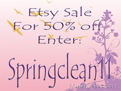 Etsy Sale Spring 2011
