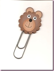 Bear punch bookmark