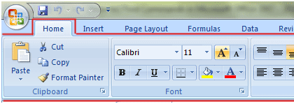 Ribbon Interface in Excel 2007