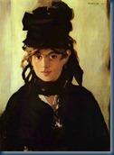 Retrato de Berthe Morisot por Manet