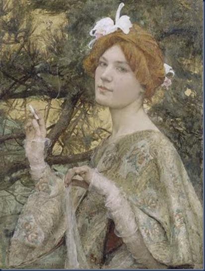 La Mujer de las orquideas Edgar Maxence 1900