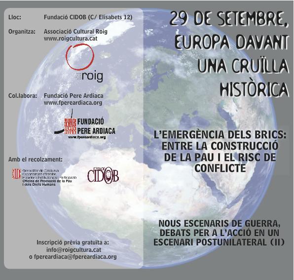 29 de setembre: Europa davant una cruïlla històrica