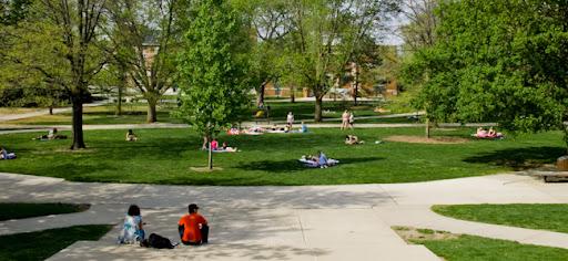 Illinois Wesleyan University campus. Una fotografia de Raul Alvarez
