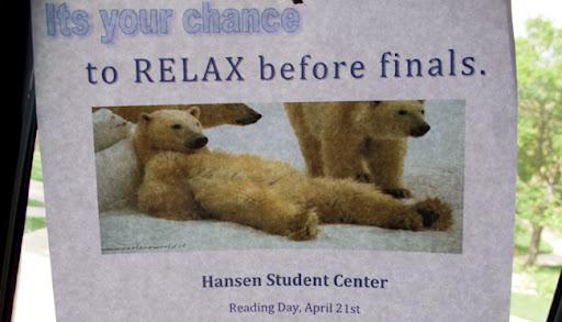 Es tu oportunidad para relajarte antes de los finales