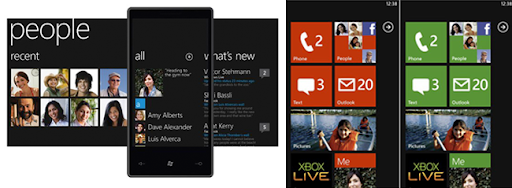 Muestra de diseño de Windows Phone 7