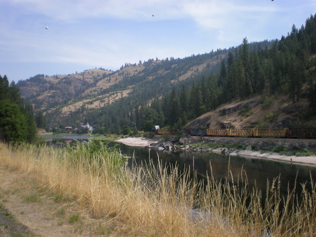 Scenery along the river in Idaho