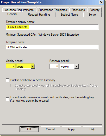 Thoughts on azure oms scom enterprise ca how to create a scom type a name which describes the template like scom certificate yadclub Gallery