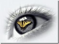 olho borboleta