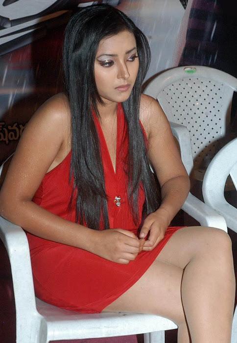 sha shha basu prasad in micro mini red skirt at inaugural function worth eye catching
