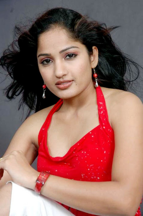 madhavi latha sizzles in redstights closeup views hot photoshoot