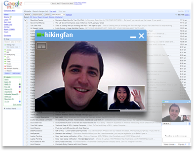 GMail Video Chat - Screenshot