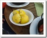 Salsicha e linguiças com batatas