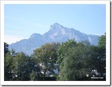 Muitas montanhas nos arredores de Salzburgo