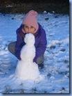 O primeiro boneco de neve da Bela