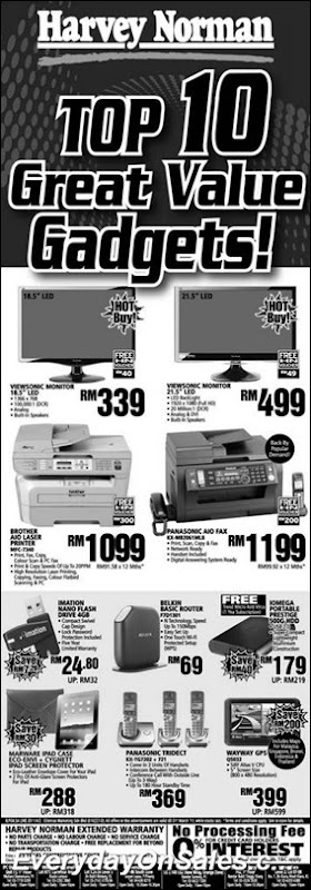 2011-Harvey-Norman-Top10-Gadgets-EverydayOnSales-Warehouse-Sale-Promotion-Deal-Discount