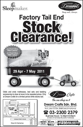 Sleepmaker-Dreamland-Stock-Clearance-2011-EverydayOnSales-Warehouse-Sale-Promotion-Deal-Discount