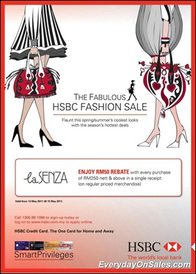 HSBC-LaSenza-Offer-2011-EverydayOnSales-Warehouse-Sale-Promotion-Deal-Discount