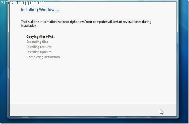 instalare Windows 7, cum instalezi windows 7 modul grafic, tutorial instalare windows 7