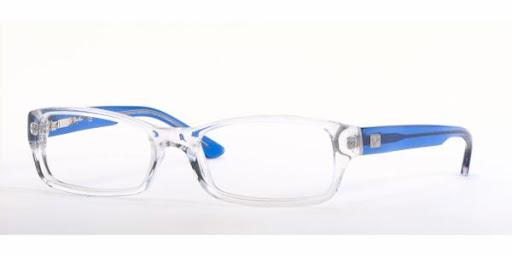 Óculos de Grau Ray Ban RX5068 Transparente e Azul