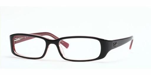 Óculos RX5063 Ray Ban Preto com Lilás