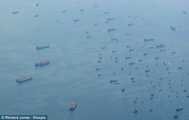 ghost fleet off Singapore