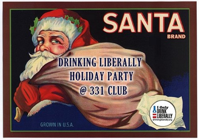 Santa brand DL party graphic