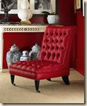 Red Oscar de la Renta Chair- Century Furniture