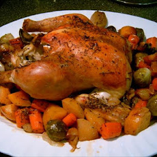 Roasted Chicken and Root Veggies
