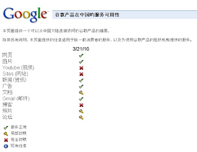 Google、中国全土でサービス停止