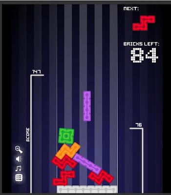 【落ちゲー】「99Bricks」99個のテトリスブロックを出来るだけ高く積み上げるゲーム