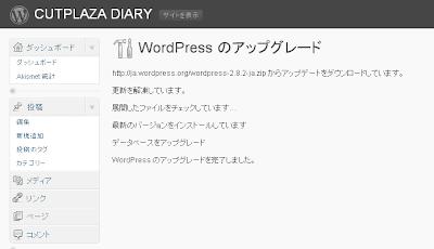 WordPress 2.8.2 日本語版にアップグレード