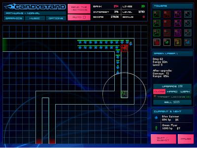 【防衛ゲーム】「Vector TD」砲台を設置して敵を倒す。