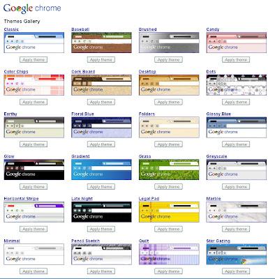 Google Chrome自体のデザインのテーマを変更出来るように