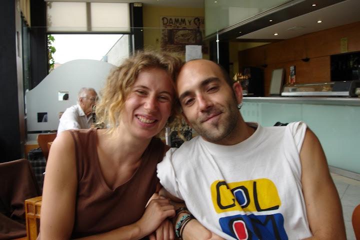 Chema en la estación de autobuses de Santiago