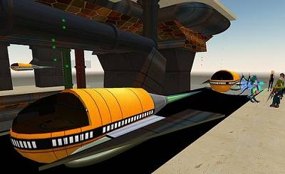 sci fi train second life
