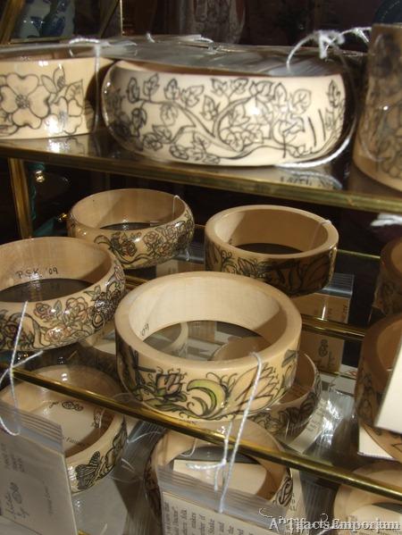 Wooden Bracelets hand penciled