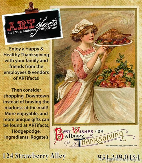 Happy Thanksgiving from ARTifacts Emporium