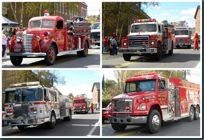 fire engine collage