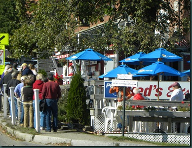 Line up at Red's Eats on Columbus Day weekend