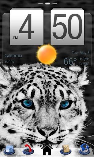 Snow Leopard Theme GO Launcher