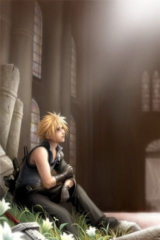 cloud strife iphone wallpaper
