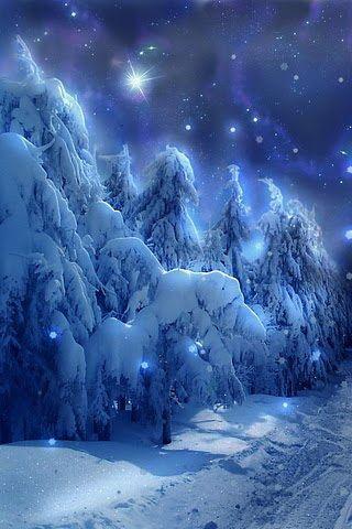 Sky in Snow iPhone Desktop Wallpaper