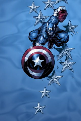 iPhone Background Captain America Wallpaper Blue Tone