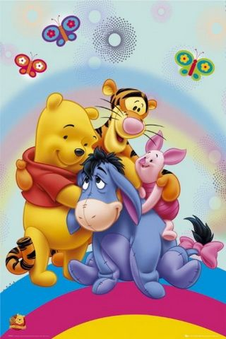 Winnie The Pooh And Friends Background For iPhone