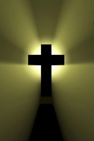 Black Christian Cross Picture iPhone Wallpaper
